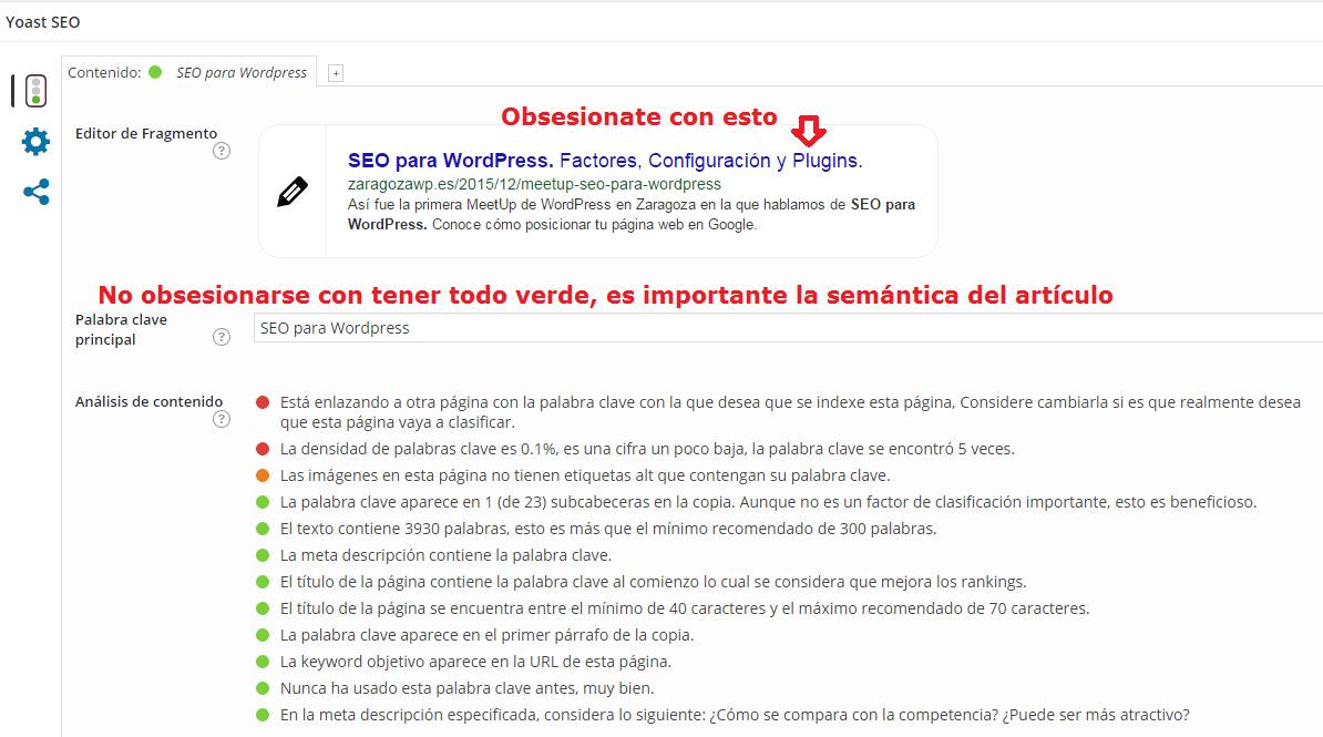 Configuración Yoast SEO de un artículo o pagina de WordPress con SEO YOAST